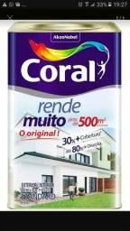 Vendo uma lata de tinta coral 18 litros, cor areia
