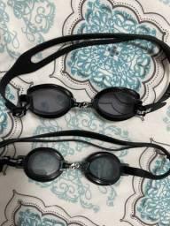 Óculos e toucas de natação
