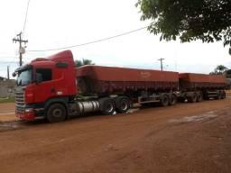 Scania com Rodocaçamba