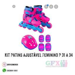 Kit patins ajustável