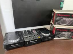 Cdj 350 pionner mais mixer djm400 usb pendrive somente venda oportunidade