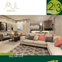 JAC'' Apartamento 75m² com 3 dorms, suíte e sacada e 2 vagadas de garagem.
