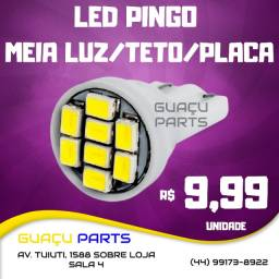 Título do anúncio: Led Meia Luz Pingo T10 Automotivo Carro Moto Placa Ré