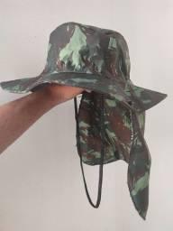 Chapéu Pescador Camuflado com protetor pescoço