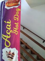 Wind banner Açaí e Hot dog