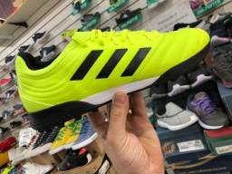 Título do anúncio: Chuteira Society Adidas Copa 19 3 TF - Verde Limão+Preto