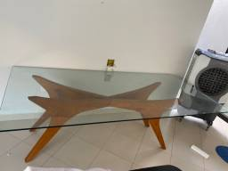 Título do anúncio: Mesa de jantar 2,30 X 1,10 com vidro de 12mm