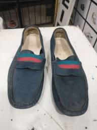 Sapato mocassim azul número 40