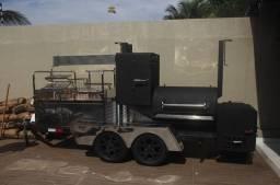 Pitsmoker Trailer  plataforma de churrasco e defumação