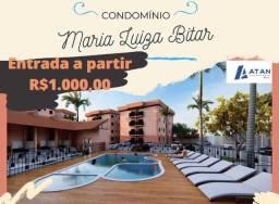 Entrada de 1.000 reais Residencial  Maria Luiza