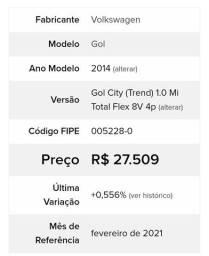 Gol (trend) G6 1.0 Mi 14/14 4p Completo