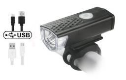 Luz Sinalizador Lanterna Usb Recarregável Bike Ciclismo