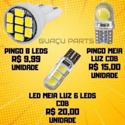 Título do anúncio:  Lâmpadas Leds Pingo T10 Farolete Xenon Pingão Preço Custo