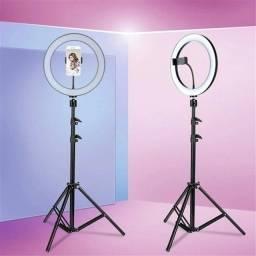 Título do anúncio: Ring Light com tripé de 2 metros e suporte para celular
