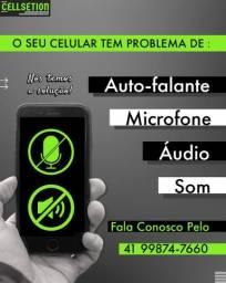 Celular com problema de som- áudio