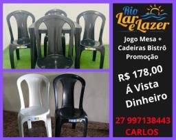 Jogo Mesa e Cadeira Plástico