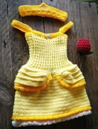 Vestidinhos de crochê para bebê menina