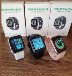 Relógio Smart D20 Pro - NOVO (Com motor de saúde, redes sociais e esportes)
