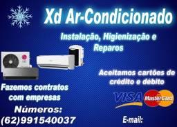 Instalação de ar condicionado e reparos
