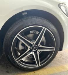 Jogo de Rodas Mercedes AMG Aro 18 Diamantada com Pneus Run Flat