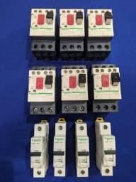 Dijuntor motor, contatora auxiliar e tripolar, dijuntor termomagnético