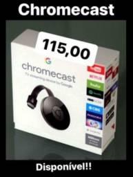 Chromecast transforma sua TV antiga em SMART TV (ENTREGA GRÁTIS)