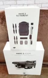 DRONE DJI MAVIC 2 ZOOM + KIT FLY MORE COMBO LACRADOS À PRONTA ENTREGA COM ANATEL