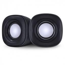 Caixa de som 2.0 effect 4w controle de som na caixa - preta