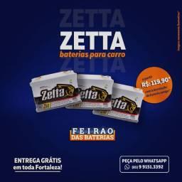Título do anúncio: Bateria Zetta para Carro Bateria Zetta para Carro Bateria Zetta para Carro