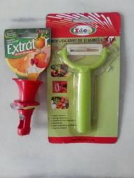Kit extrator de suco mais descascador
