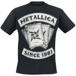 Camisa banda metallica camiseta banda metallica musicas