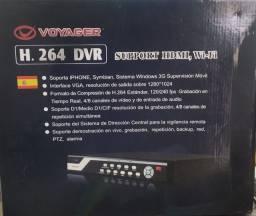 DVR Voyager 4 canais nunca usado.