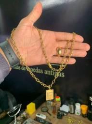 Jóias de moeda antiga idêntica a ouro com garantia eterna