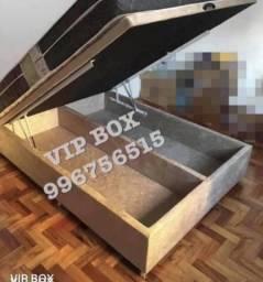 Cama Box baú casal ++ forte do mercado ferragens grandes + divisória