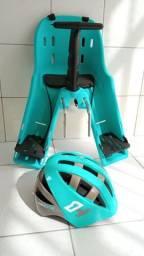 Cadeirinha dianteira Baby Bike Kalf + capacete High One.
