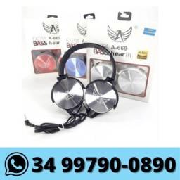 Fone de Ouvido Headphone com Fio P2