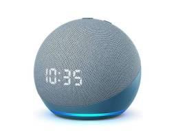 Echo Dot 4ª geração Smart Speaker com Relógio e Alexa<br><br>