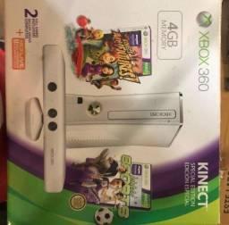 Xbox 360 4gb Kinect completo com jogos e carregador