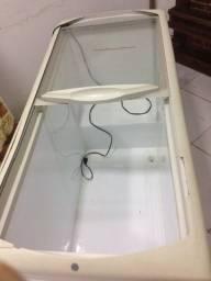 Freezer horizontal tampa de vidro 110v