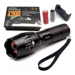 Lanterna Tática Policial Militar Bateria Recarregável - 8247