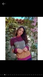 Blusa de tricô Agasalho Feminino Tricot