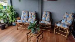 Promoção jogos completos cadeiras de bambú