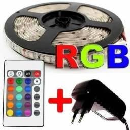 Promoção Fita Led Rgb Ultra 5m 5050 Prova D'agua + Controle + Fonte