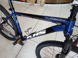 Bicicleta KHS 2X11 Shimano XT Proshock Ônix Dark 29 - troco por iphone 7/8 e S8