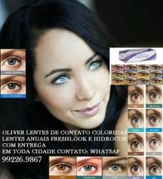 Lentes de contato coloridas entrega R$100 REAIS em toda manaus