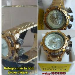 08f60c10440 Relógio invicta bolt multifuncional