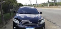 Toyota Corolla xei automático 2010 + couro + GNV 5° geração + 5 pneus novos - 2010