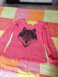 Blusa lobo-femenina