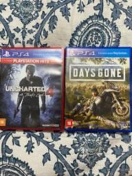 Vendo dois jogos de Play4