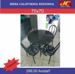 Linda mesa Califórnia 4 cadeiras .Montagem gratis